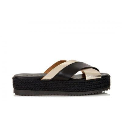 Γυναικείες Πλατφόρμες - Flatforms Sante 96451 Μαύρο