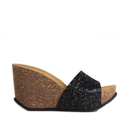 Γυναικείες Ανατομικές Πλατφόρμες Walk Μe 102-028 Glitter Black