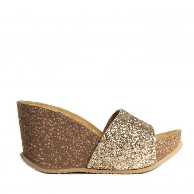Γυναικείες Ανατομικές Πλατφόρμες Walk Μe 102-028 Glitter Gold