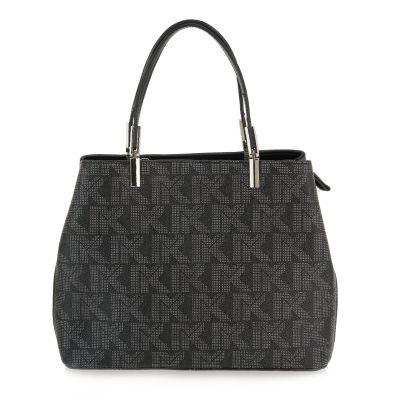 Γυναικεία Τσάντα Ώμου Exe I718 Μαύρο Στάμπα