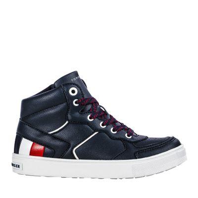 Παιδικά Μποτάκια Tommy Hilfiger Αγόρι High Top Lace Up Sneakers T3B4 30926 1030A Μπλε