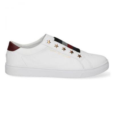 Γυναικεία Sneakers Tommy Hilfiger Elastic Slip On FW0FW05225 YBR White
