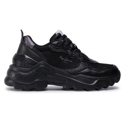 Γυναικεία Sneakers Pepe Jeans Eccles Black PLS31071 Black 999