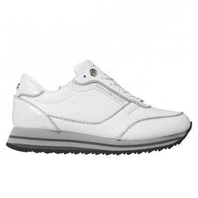 Γυναικεία Sneakers Tommy Hilfiger Th Glitter Mix Runner Sneaker FW0FW05234 White OIN