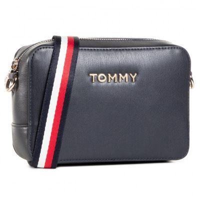 Γυναικεία Τσάντα Χιαστί Tommy Hilfiger Iconic Tommy Camera Bag AW0AW08608 Navy CJM