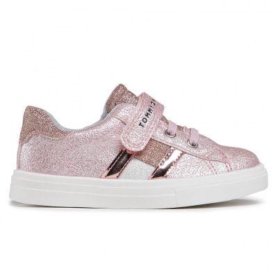 Παιδικά Sneakers Tommy Hilfiger Κορίτσι Low Cut Lace-Up T1A4-31014-1160 Ροζ 302 (20-23)