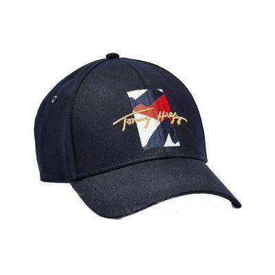 Ανδρικό Καπέλο Tommy Hilfiger Th Flag Signature ΑΜ0ΑΜ07836 DW5 Μπλε