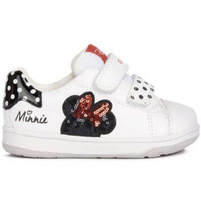 Παιδικά Ανατομικά Sneakers Geox Κορίτσι Flick B151HA 08502 C0404 Λευκό (22-23)
