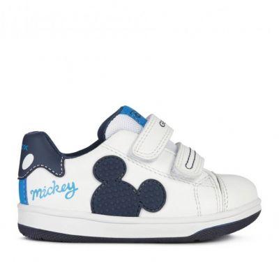 Παιδικά Ανατομικά Sneakers Geox Αγόρι Flick B151LA 08554 C0899 Λευκό (24-27)