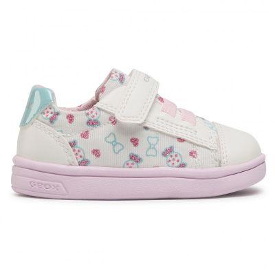 Παιδικά Ανατομικά Sneakers Geox Κορίτσι DjRock B151WA 0AW54 C1000 Λευκό (22-23)