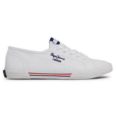 Γυναικεία Sneakers Pepe Jeans Aberlady Ecobass PLS31193 800 Λευκό