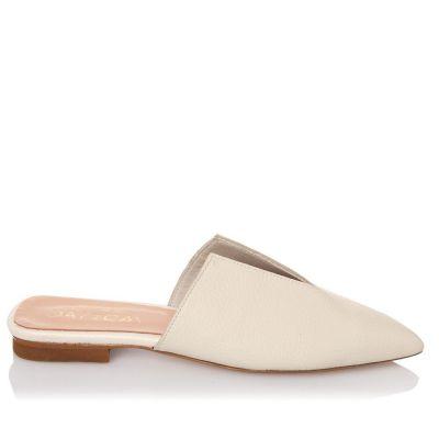 Γυναικεία Mules Flat Sante 21-111 Off White