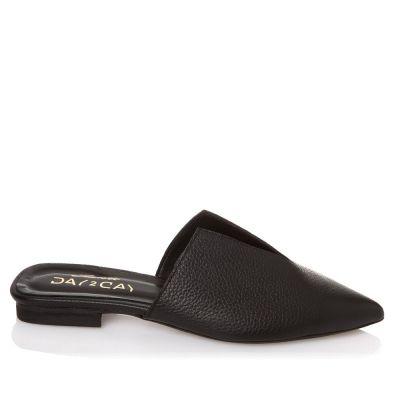 Γυναικεία Mules Flat Sante 21-111 Μαύρο