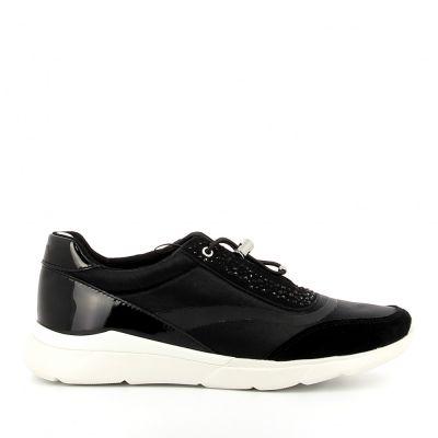 Γυναικεία Ανατομικά Sneakers Geox Hiver Μαύρο D15FHD 01522 C9999