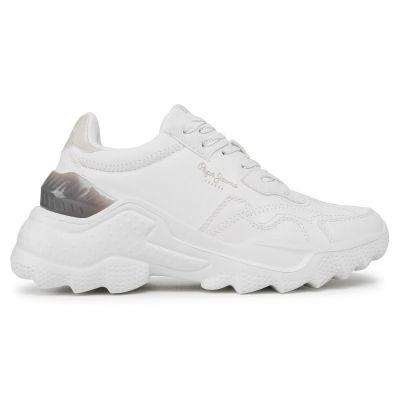 Γυναικεία Sneakers Pepe Jeans Eccles Fenix PLS31165 Off White 803 Λευκό