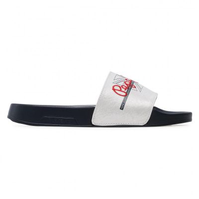 Γυναικείες Σαγιονάρες Pepe Jeans Slider Flag PLS70097 White 800