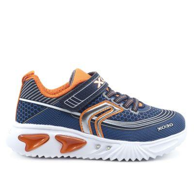 Παιδικά Ανατομικά Sneakers Geox Αγόρι Assister Μπλε/Πορτοκαλί J15DZA 00011 C0820