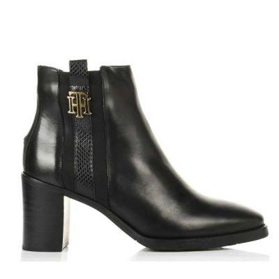 Γυναικεία Μποτάκια Tommy Hilfiger Th Interlock High Heel Boot FW0FW05192 Black BDS